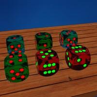 3d model dices