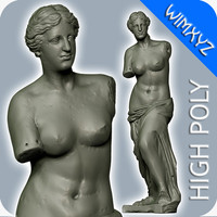 3d venus milo sculpture model