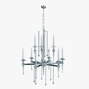 candle chandelier 3D models
