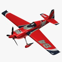 edge 540 race aircraft propeller 3d max
