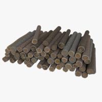 wood log 5 3d model