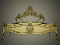 classic bed carved