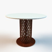 designer restaurant table 3d max
