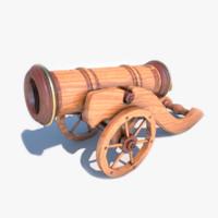 decorative cannon 3d model