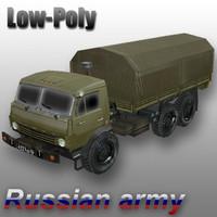 3d russian army truck model