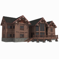 Log House Mansion 1 HD - Luxury Wood Home Cabin