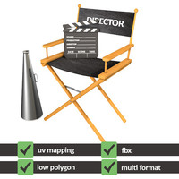 3d max director chair