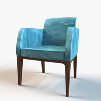 3d model designer streamlined seat