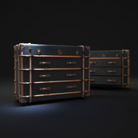 3d richards -trunk-medium-chest model