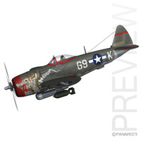 republic p-47 thunderbolt - obj