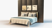 Hotel Bedset With Headboard