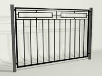 3d model fencing palisade
