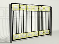 fence railing 3d max