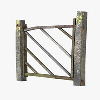 old wood gate 3d model
