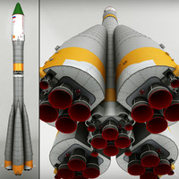 space launcher progress soyuz-fg 3d max