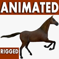 3d model horse rigged games