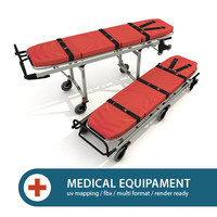 ambulance stretcher 3d model