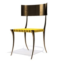 chair brass klismos max