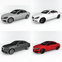mercedes-benz car pack c c4d
