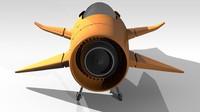 3d model dragon sports plane