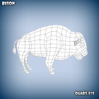 base mesh bison c4d