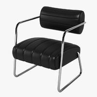 eileen gray bonaparte chair 3d max