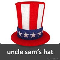 uncle sam s hat 3d obj