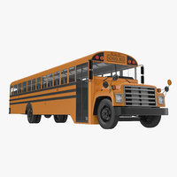 3ds max schooll bus 3 rigged
