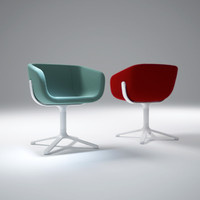 scoop-chair 3d model