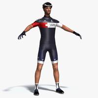 3d model cyclist