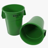 3d garbage green plastic