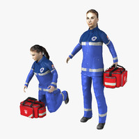 3d paramedic rigged model