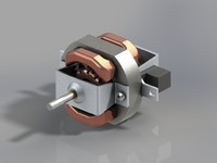 AC motor of hair dryer
