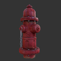 3d old hydrant model