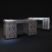3d richards trunk-desk-metal