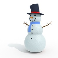 3d model snowman snow man
