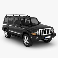 3ds max jeep commander suv