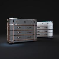 richards -trunk-medium-chest-metal 3d max