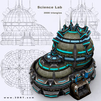 construction - science lab 3d model