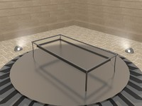 3ds simple glass terrace table