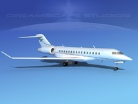 3d model of global express bombardier 8000