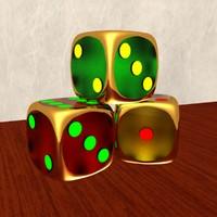 3d dices model
