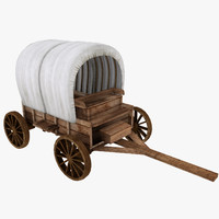 old wagon 3d max