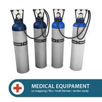 3d oxygen tanks model