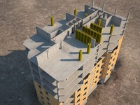 3d model of construction site