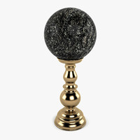 3d marble ball stand model