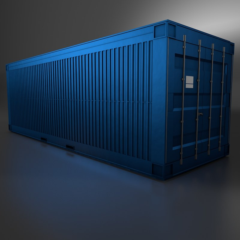 Metal shipping crate 3d c4d for Metal shipping crate
