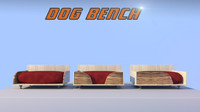 dogs bed 3d c4d