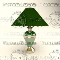 3d model table lamp gold line