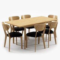 hygena merrick oak table 3d max